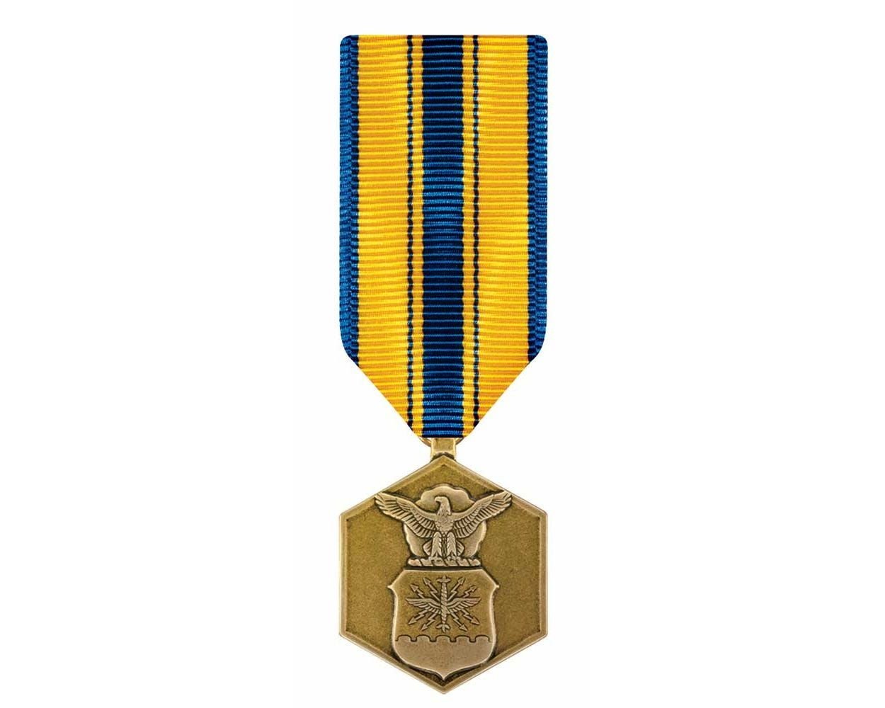 GENUINE FULL SIZE US MILITARY MEDAL AIR FORCE COMMENDATION