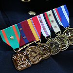 Re-draped Medals