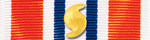 Coast Guard Presidential Unit Citation Ribbon with Hurricane Device