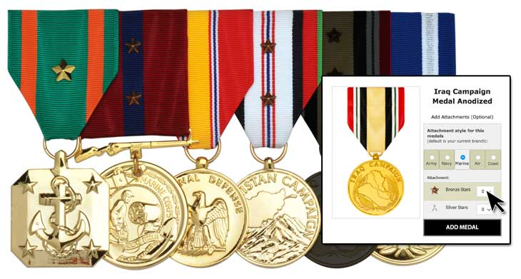 mounted medals for wear graphic