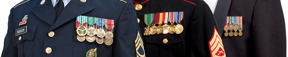 Uniforms with medals