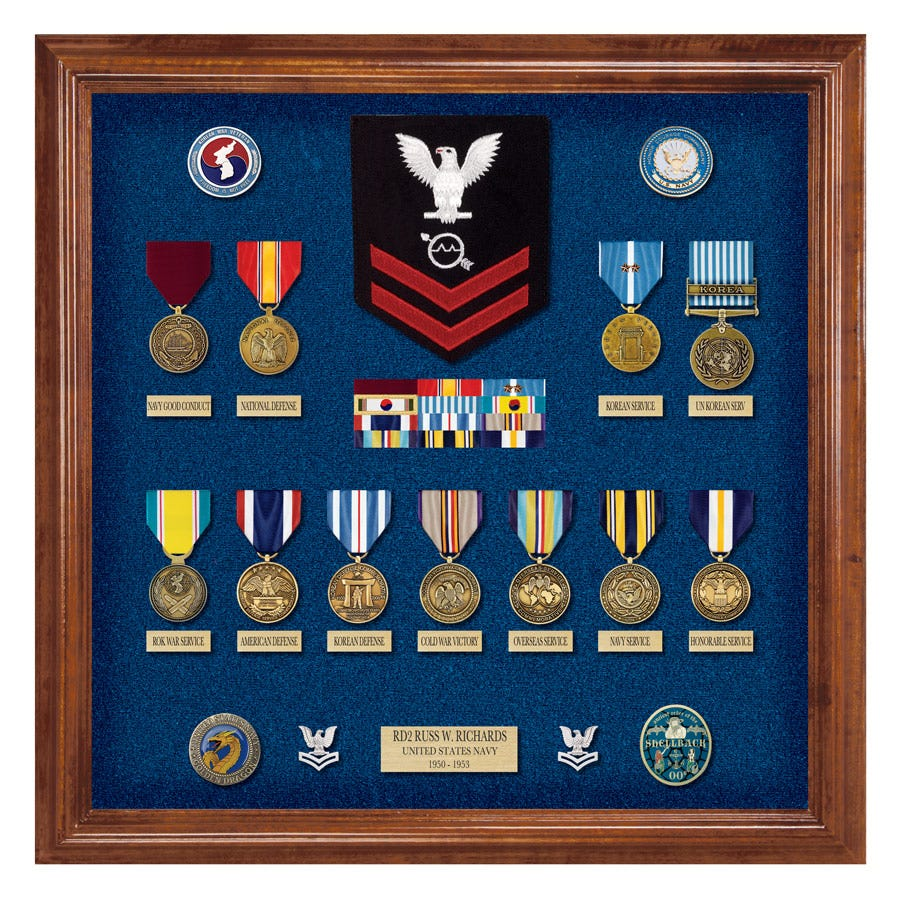 Shadowbox builder medals of america for Air force decoration examples